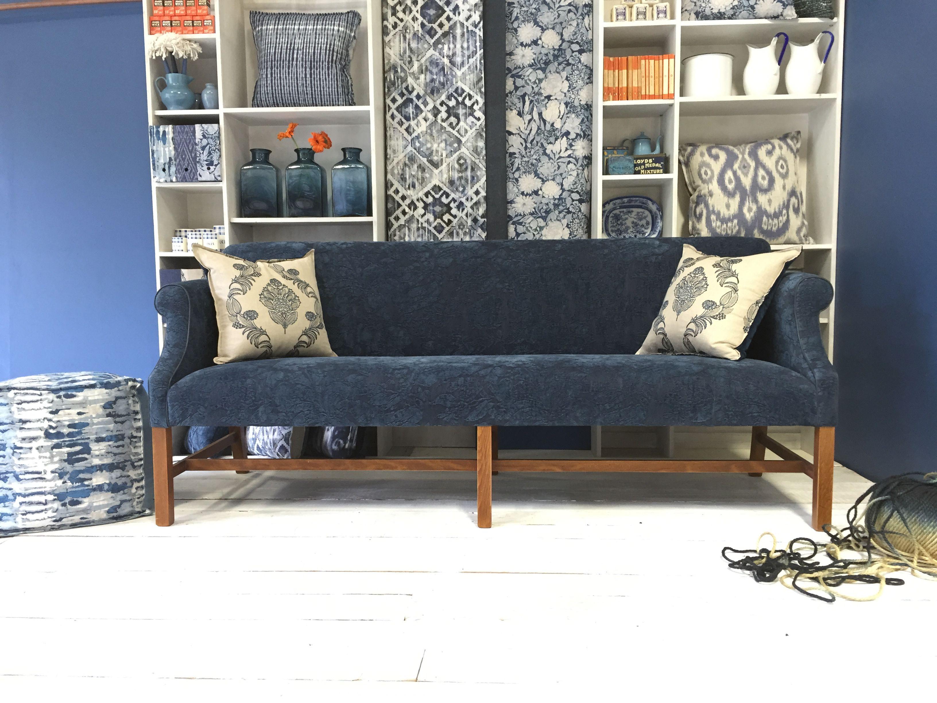 A fresh shot of our Byron 'Midnight Blue' sofa