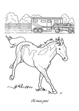 hard horse coloring pages - photo#36