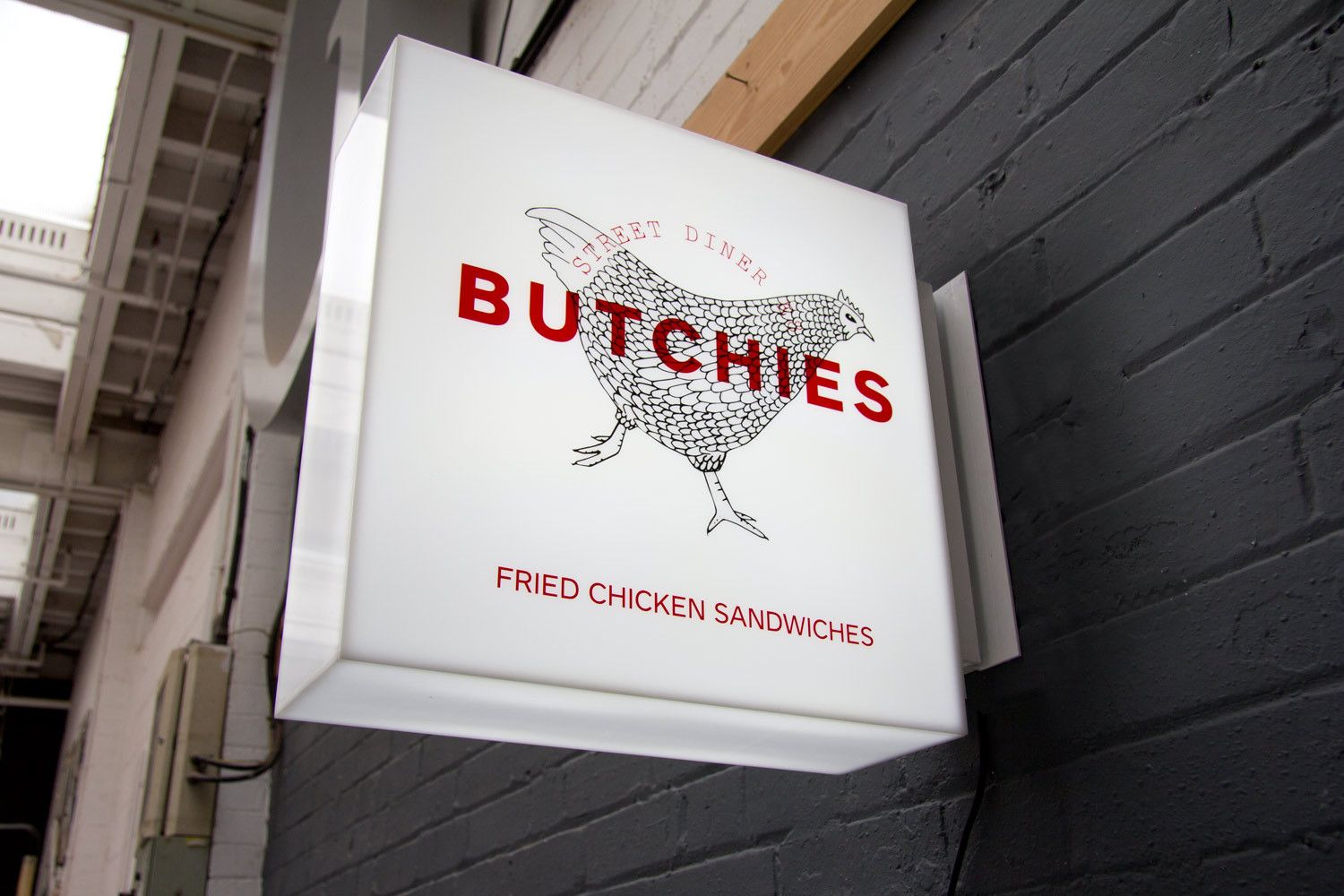 Frameless Projecting Light Box Sign By London Sign Maker S