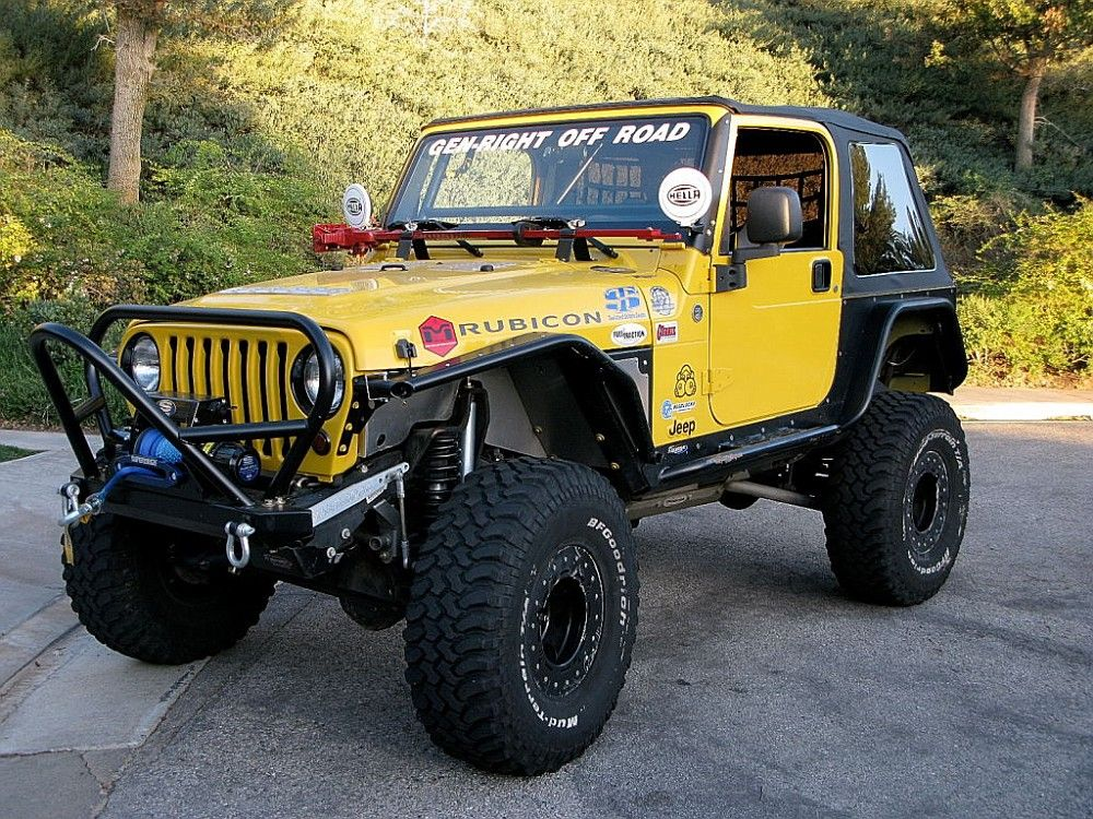 Metal Cloak Fenders Before And After Shots Yellow Jeep Jeep Tj