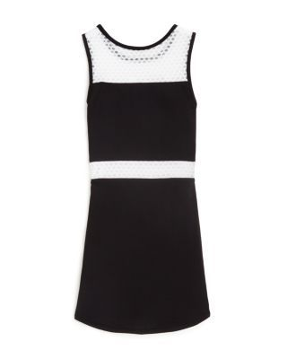 Sally Miller Girls' Color Block Mesh Inset Dress - Big Kid - Black #sallymiller