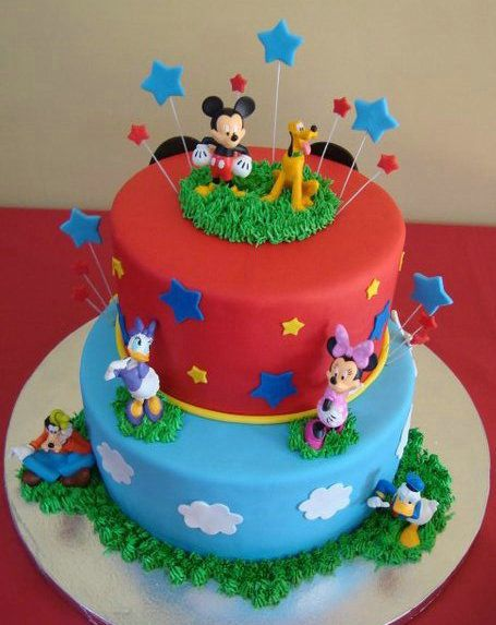 Mickey Mouse Clubhouse Cake Designs Noahs Second Birthday