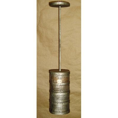 Laura Lee Designs Cylinder 1 Light Drum Chandelier