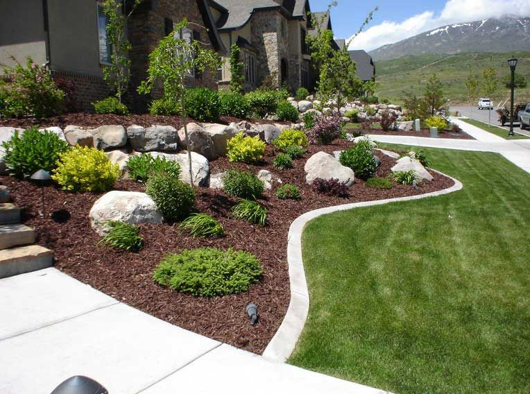 Rock Landscaping Ideas Garden Landscaping Decoration Ideas Front