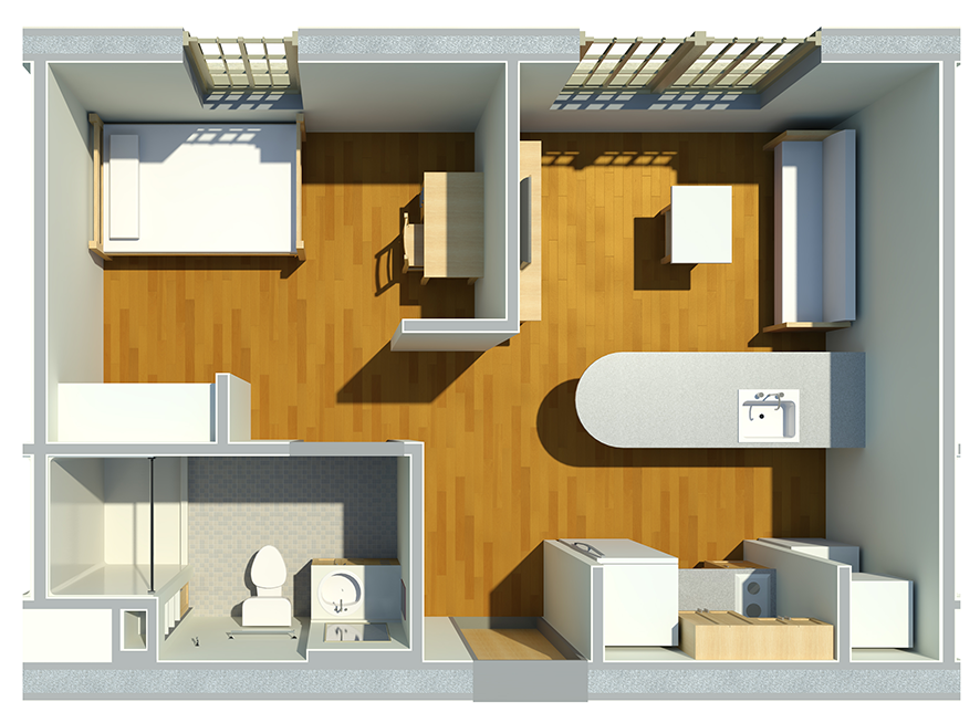 Typical 1 Bedroom Apartment In West Village Hall House Small Cottage Homes Apartment Style