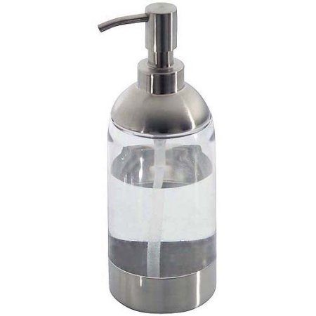 Interdesign Forma Anna Tall 18 Ounce Soap Pump Brushed Stainless Walmart Com Kitchen Soap Dispenser Soap Dispenser Kitchen Sink Soap Pump