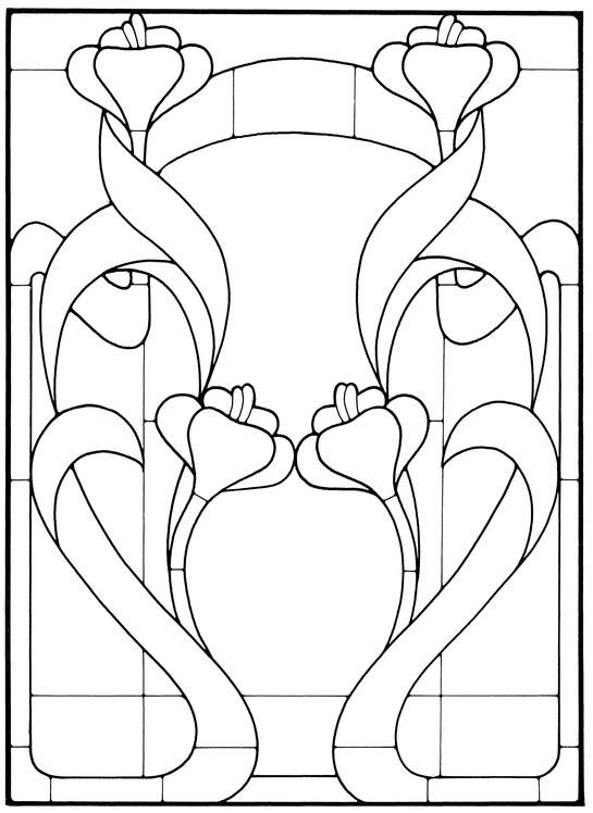 Art Nouveau Stained Glass Pattern Book | Mis dibujos plantillas ...