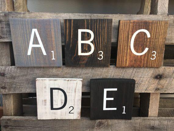 Large Scrabble Letters 5 5 Wood Scrabble Tiles Large Etsy Scrabble Tile Wall Art Scrabble Wall Decor Scrabble Tiles Wall