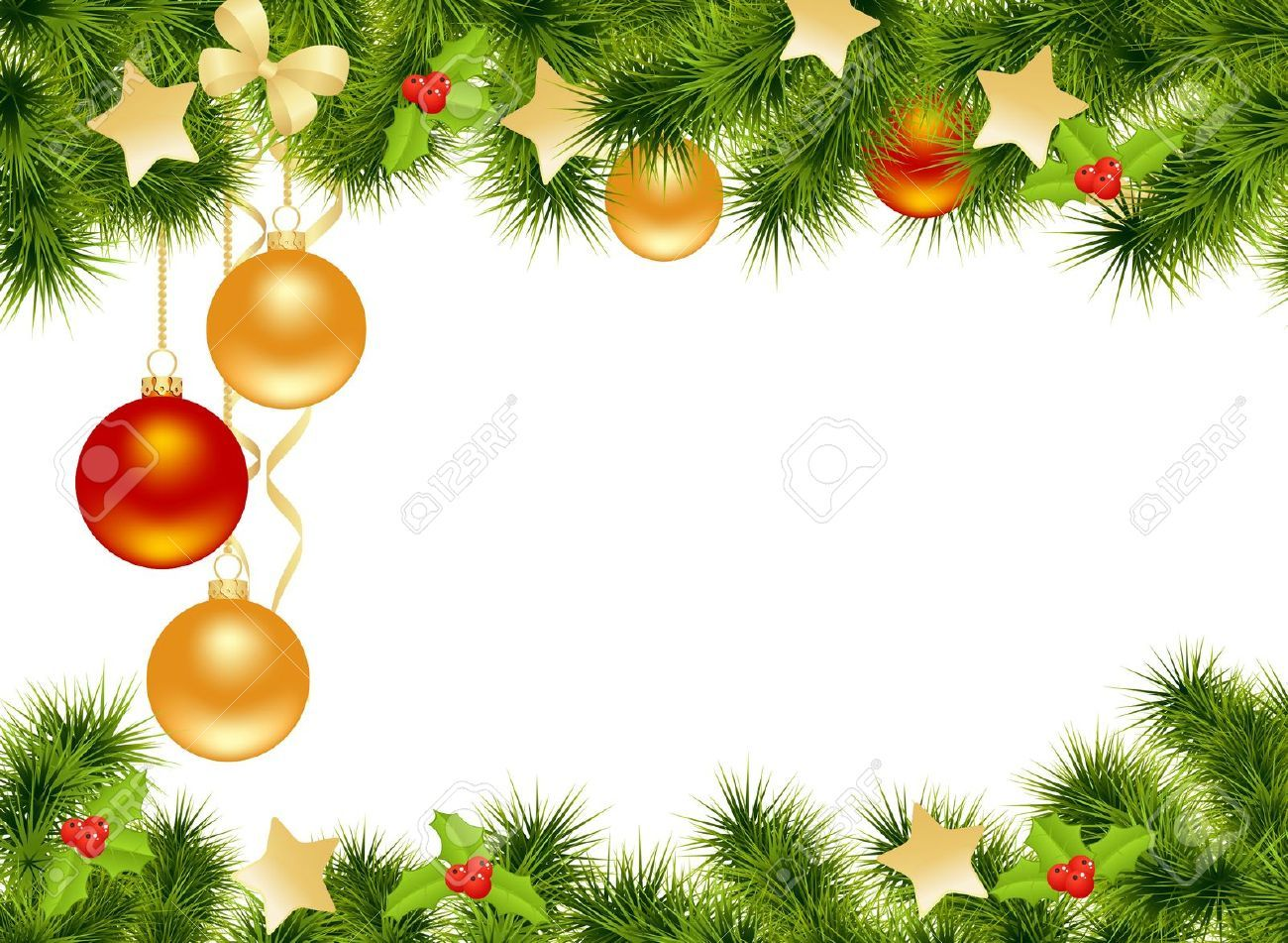 christmas background with decorations vector illustration