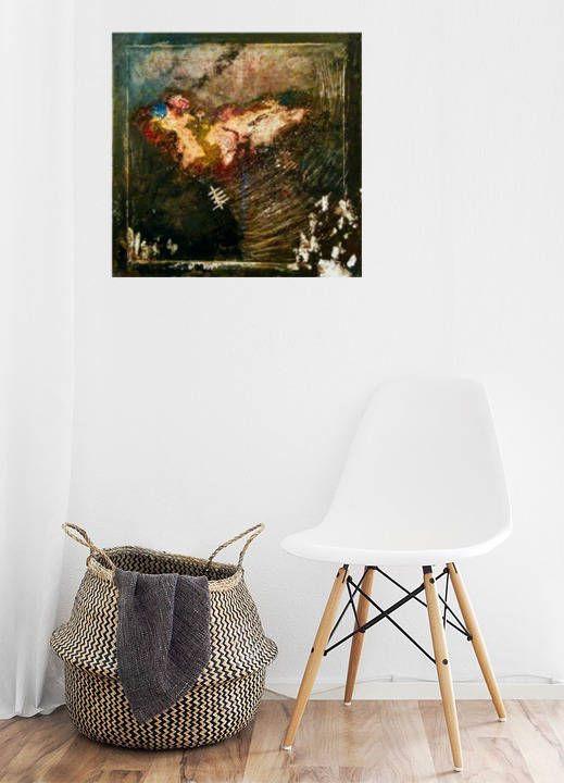 Blackout - Abstrakte Kunst, Acryl Malerei auf Leinwand, original - leinwand für wohnzimmer