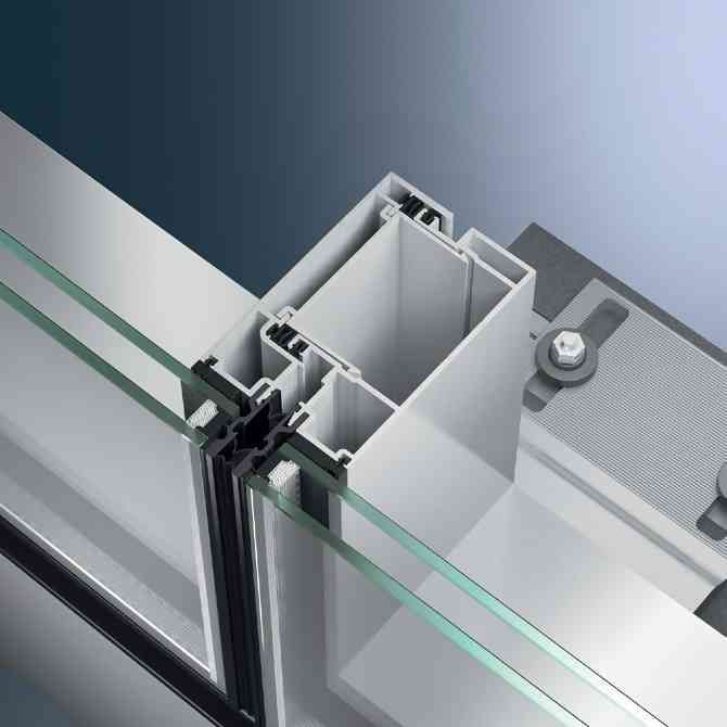 Uuc 82 Sg Schuco Germany Glass Building Curtain Wall Detail