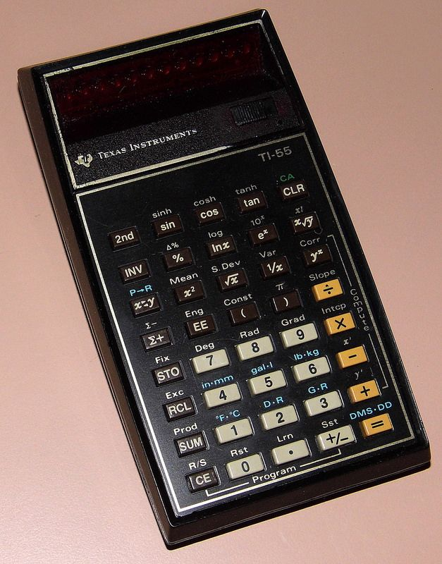 Vintage Texas Instruments TI-55 Pocket Electronic
