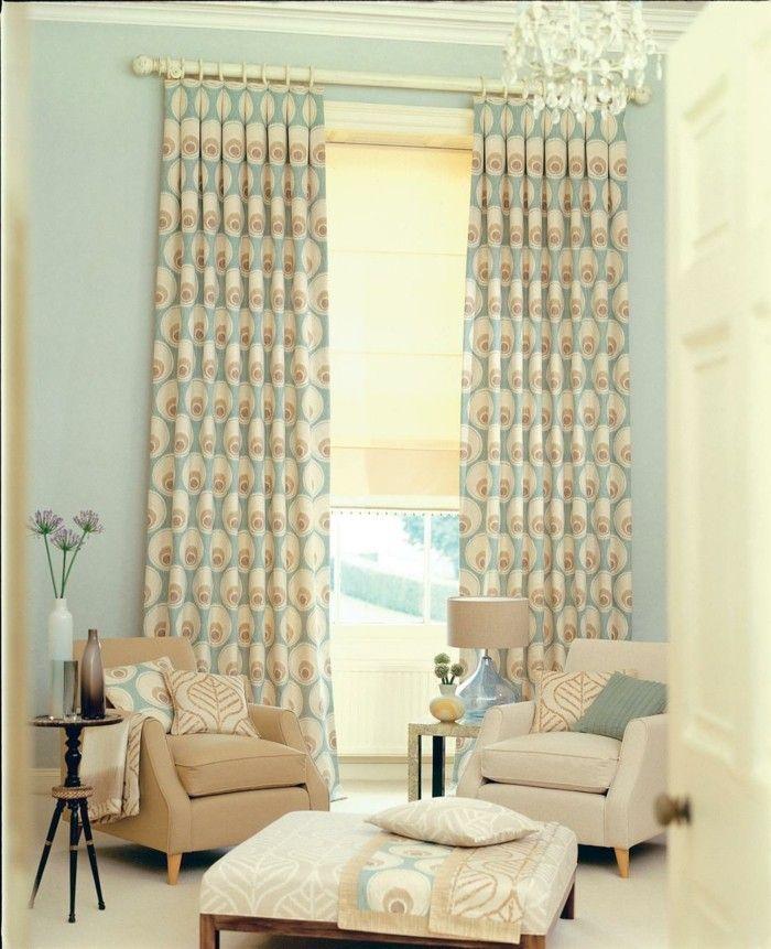 dekostoffe gardinen ideen wohnzimmer dekorieren Dekoration - gardinen wohnzimmer beige