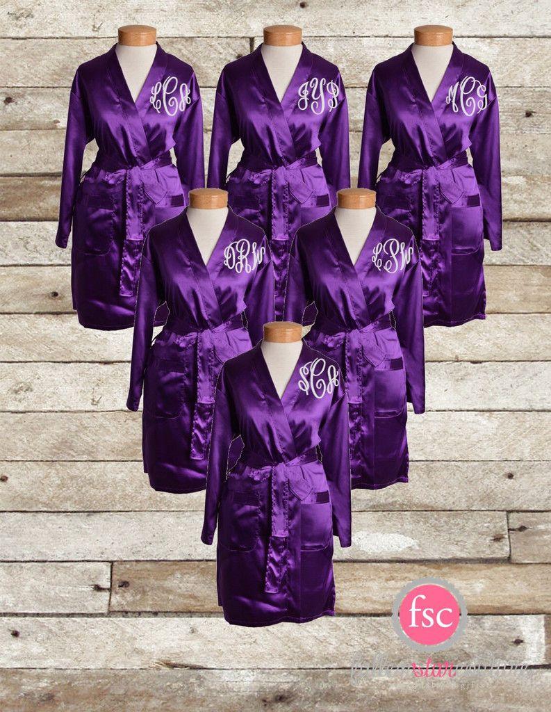 359fd90f27 Monogrammed Bridesmaid robes