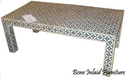 Bone Inlay Coffee Table|MOP Inlay Coffee Table|Mother Of Pearl Inlay Coffee  Table