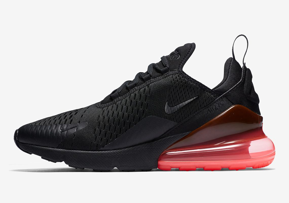 Wholesale Nike Air Max 270 Flyknit Black Hot Punch AH8050 010 Women's Men's Running Shoes AH8050 010a