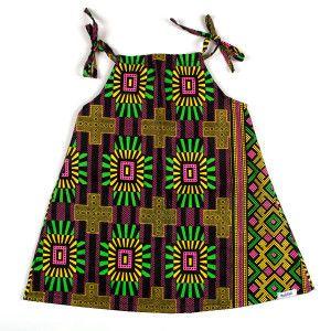 d294910bc5 Vestido infantil com estampa africana exclusiva colorê