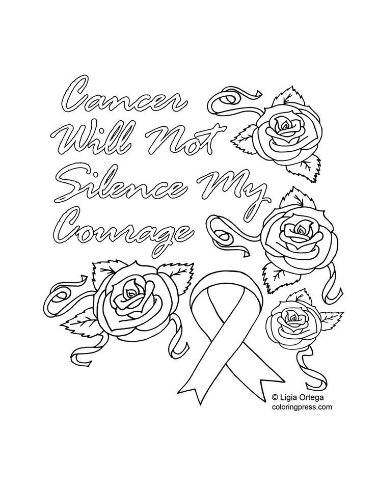 Cancer Awareness Coloring Page by Coloring Press, ColoringPress.com ...