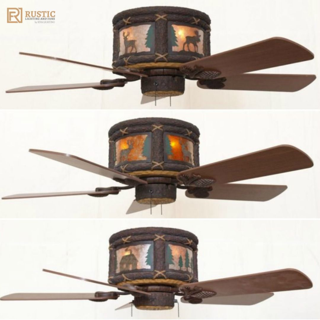 brushed steel clarity monte ii fans carlo blade ceiling p fan lights hugger in with ceilings