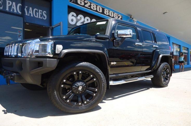Hummer H3 With Kmc Monster Xd Matte Black Mag Wheels Ozzy Tyres Hummer H3 Black Wheels Car Wheels