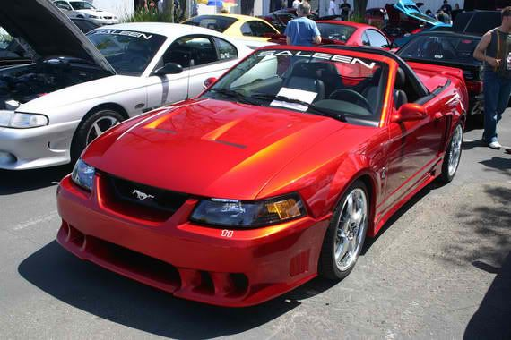 Lizstick Red 1999 Saleen S281 Sc Ford Mustang Convertible