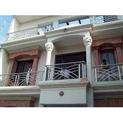 stainless steel front balcony railings in delhi delhi ForBalcony Grills Enclosure Designs In India