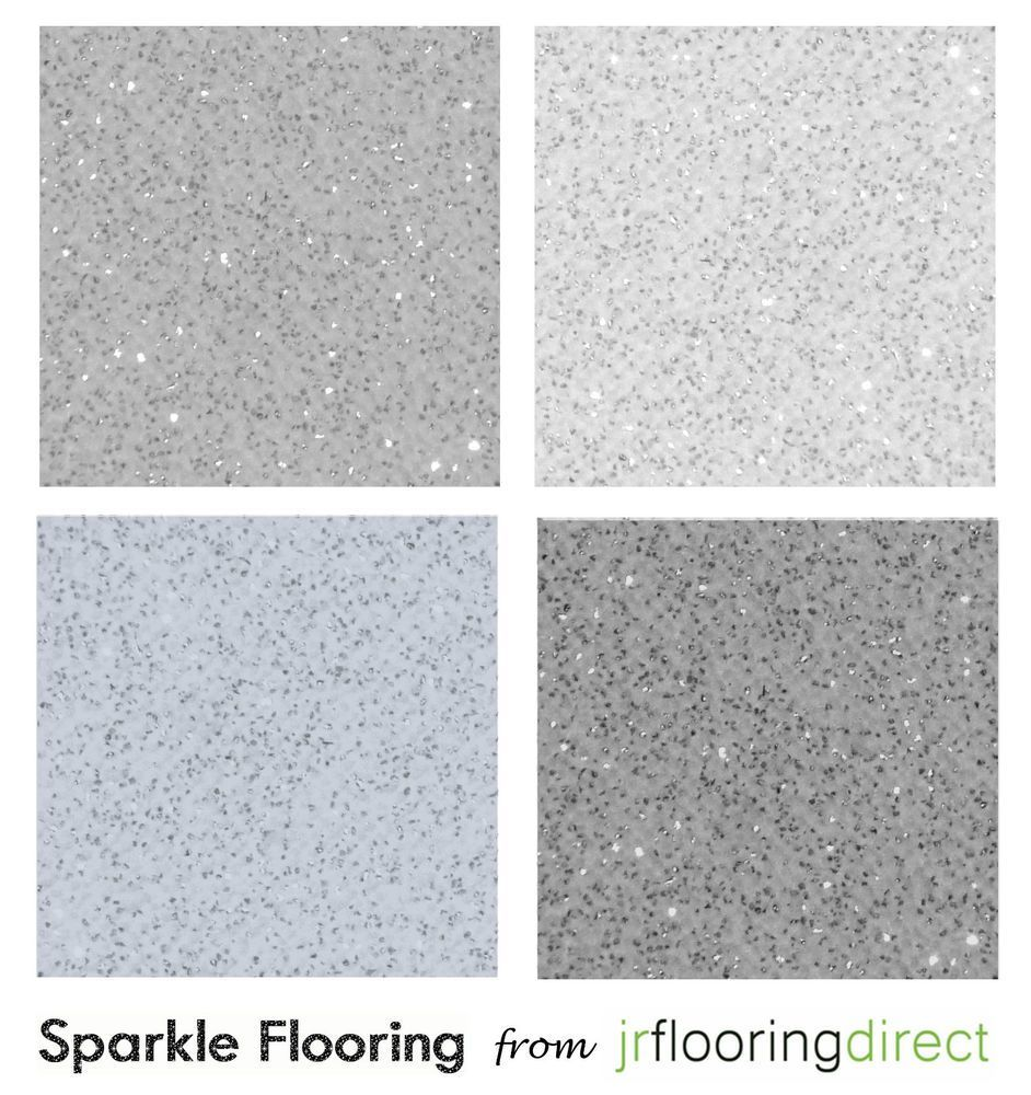 GREY Sparkly Flooring / Glitter Effect Vinyl Floor. Sparkle Lino ...