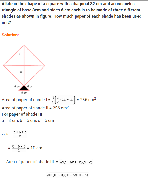 NCERT solutions for class 9 maths chapter 12 Heron\'s formula Ex-12.2 ...
