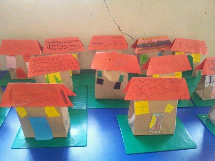 Preschool House Craft House Preschool Crafts Write Address