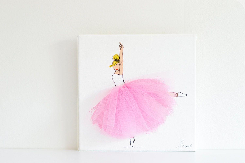 Ballerina Nursery Art, Kid\'s Room, Ballerina Art, Pink Art (Set of 3 ...