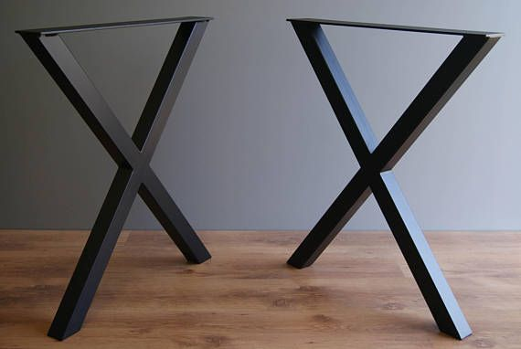 Listing Is For Pair Of X Style Steel Table Legs 2 Pieces 28 Inches 71 Cm High 24 61 Wide Made From Inch 50