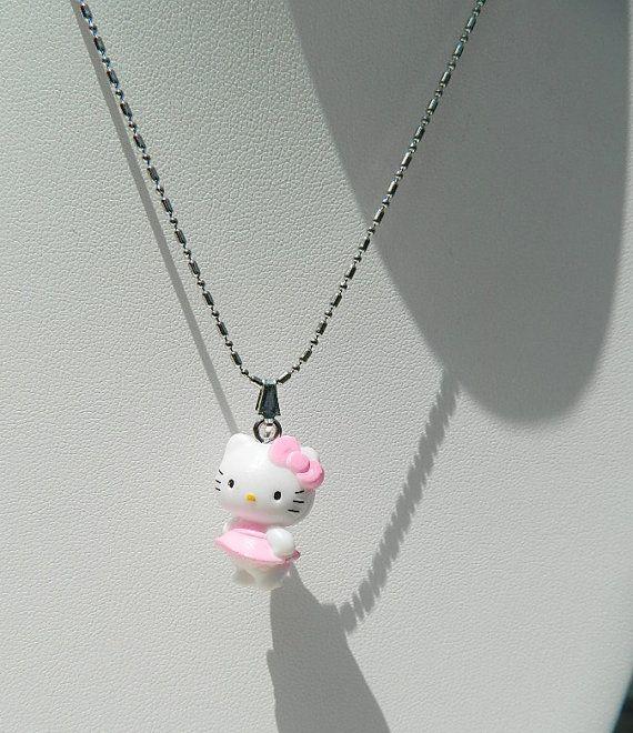 Necklace childrens jewelry Hello Kitty by JewelrybyDecember67, $20.00