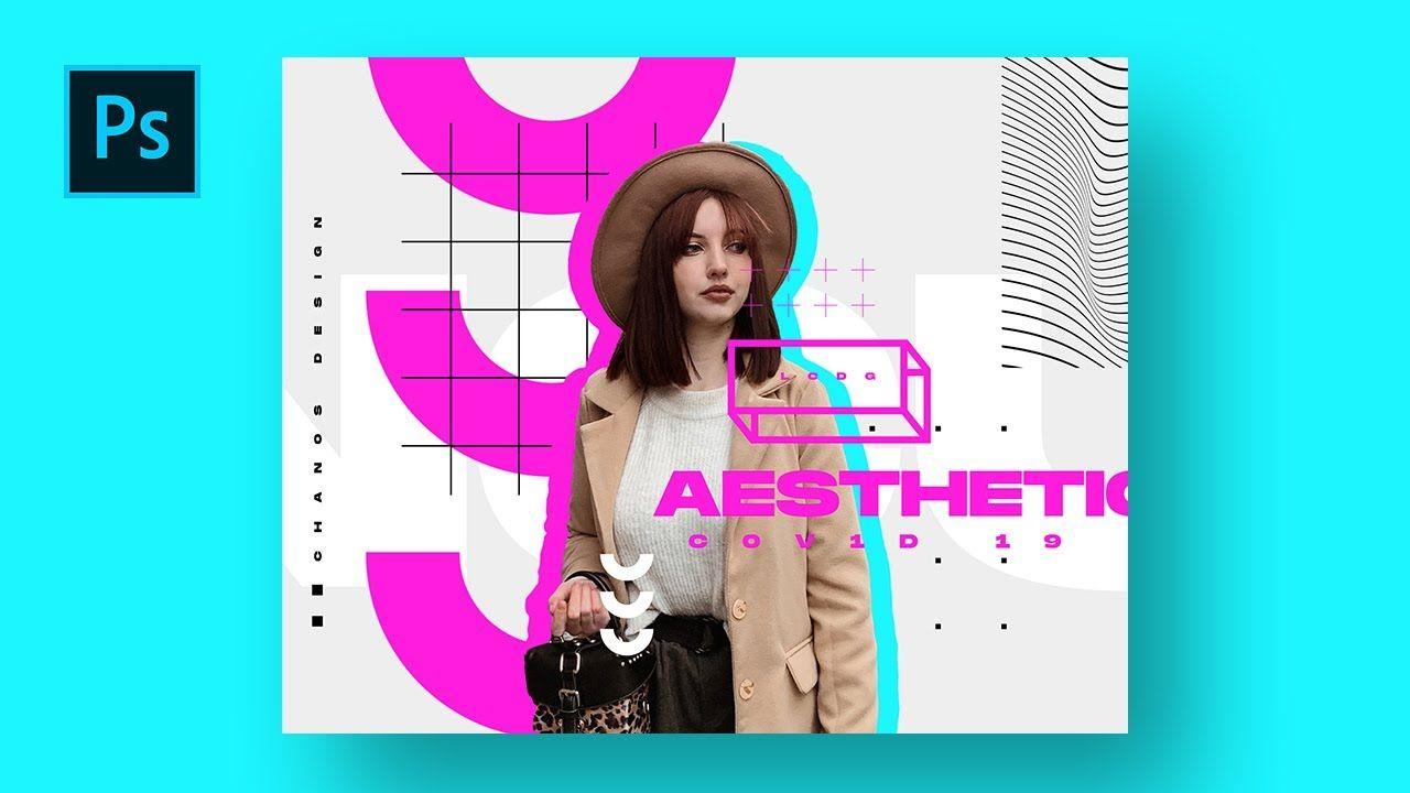 Cara Desain Poster Chaos Aesthetic Dengan Photoshop Photoshop Tutoria Desain Poster Photoshop Inspirasi Desain Grafis