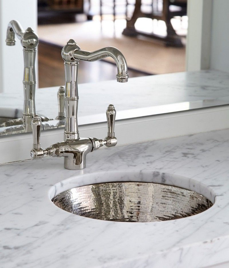 Hammered Undermount Bathroom Sink white bathroom counter top, hammered nickel sink and faucet