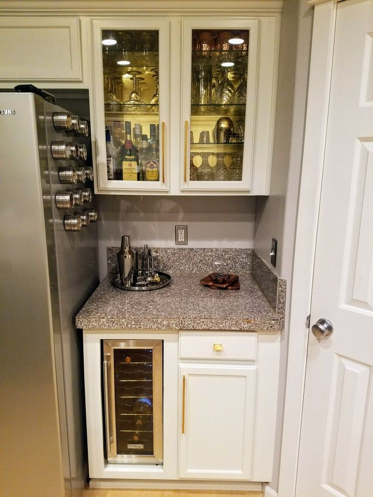 Diy Painted Kitchen Cabinets Retrofit Wine Bar And Gl Doors White Dry