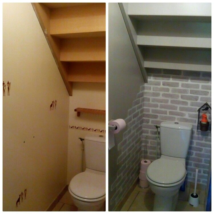 toilettes sous escalier