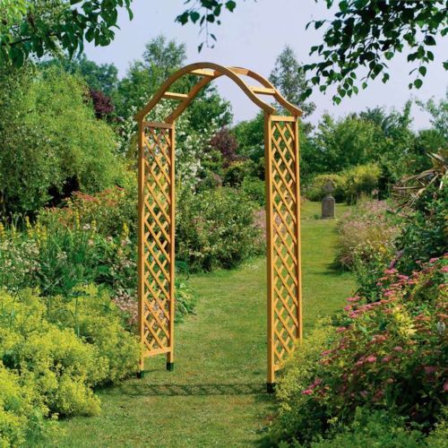 NEW SELF ASSEMBLY GARDEN METAL ARCH FOR CLIMBING PLANTS ROSES TRELLIS FREE P/&P