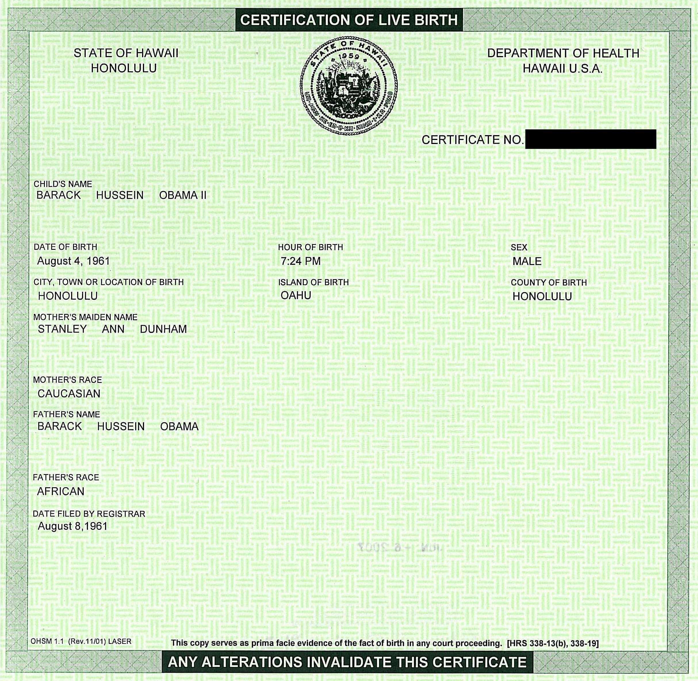Fake Birth Certificate Education Pinterest Obama Barack Obama
