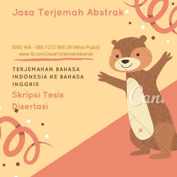 Contoh Abstrak Dalam Bahasa Indonesia Dan Inggris Jasa Terjemah