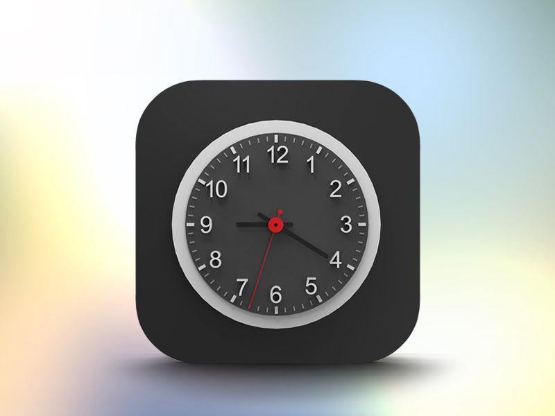 iOS7 clock icon | Mobile iCON/LOGO/ELEMENT | Clock icon, Ios