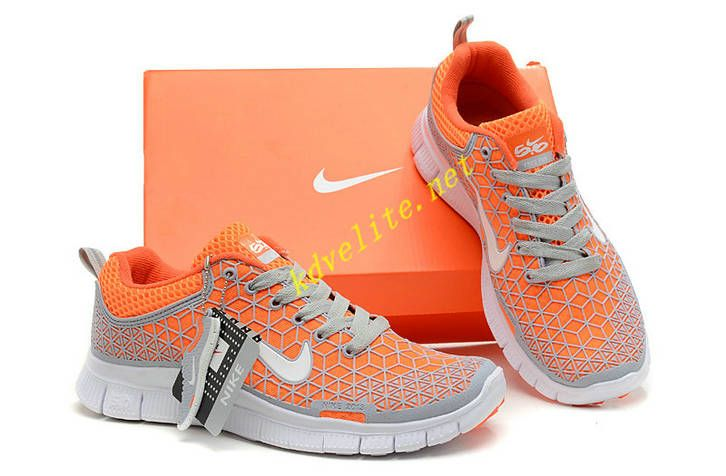 Nike Free 6.0 Womens Grey Orange | Pink nike shoes, Nike