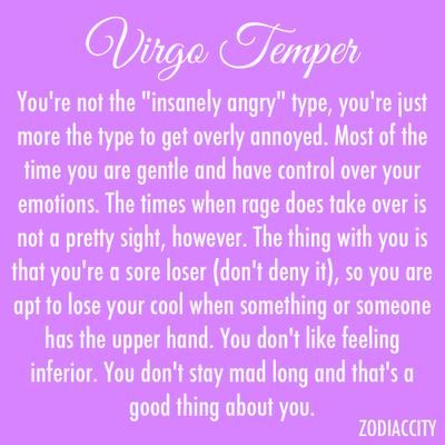 Virgo Temper   Virgo ♍   Virgo women, Virgo quotes, Virgo facts