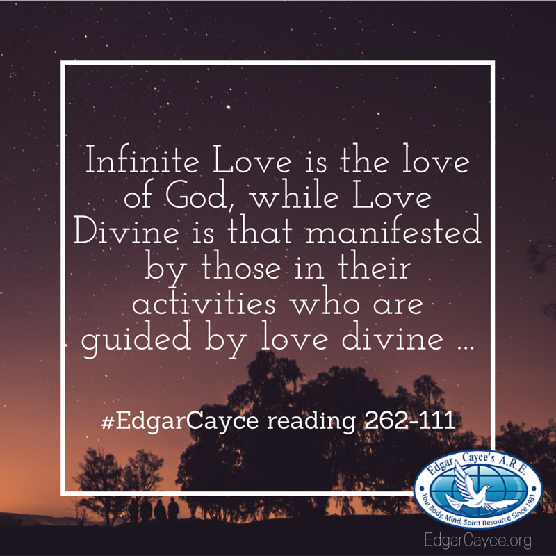 Infinite Love is the love of God, while Love Divine is that