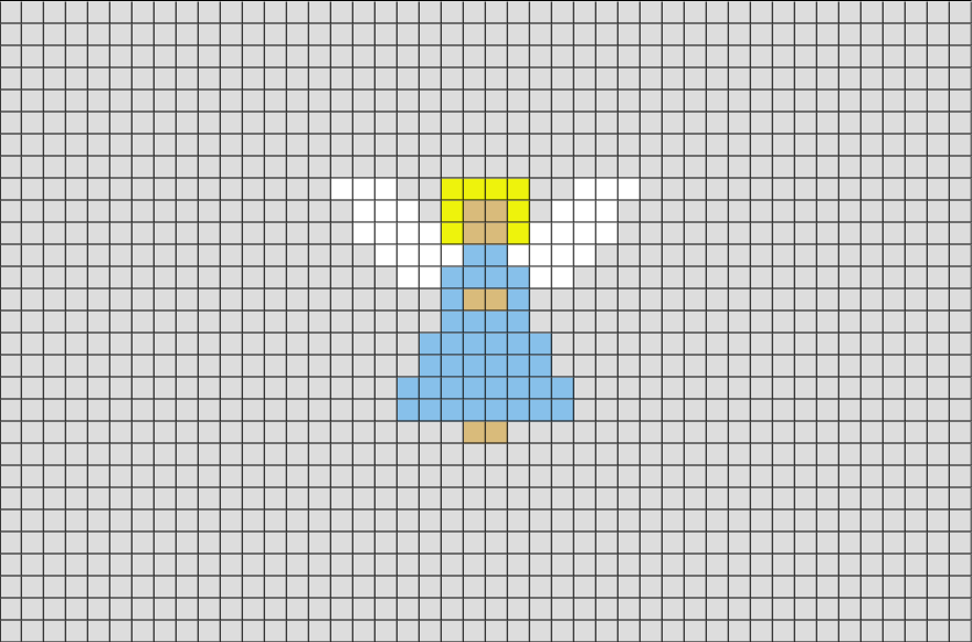 Angel Pixel Art Tiny Cross Stitch Pixel Art Cross Stitch