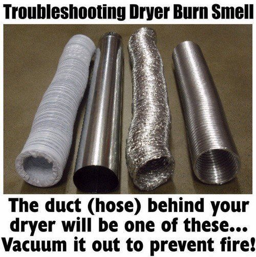 Burning Smell From Clothes Dryer - How To Fix (With images ...
