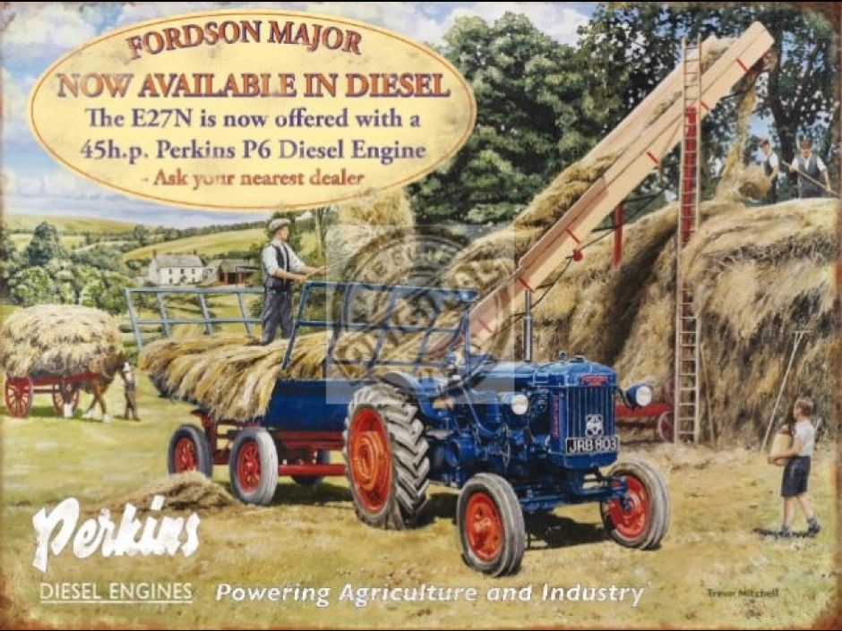 Fordson Major Tractor Vintage Classic Country Farm Farming Large Metal Tin Sign
