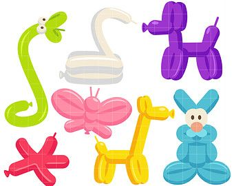 Popular Items For Paper Craft On Etsy Balloon Animals Free Clip Art Easy Balloon Animals