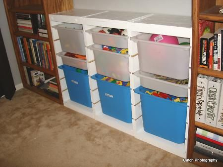 Awesome IKEA Trofast Toy Bin Storage Hacked  Playroom Project 1!   DIY Projects