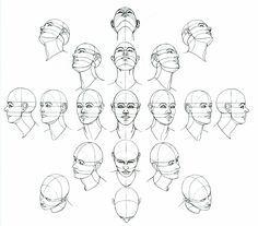 Cabezas En Todss Sus Posilbes Angulos Proporciones Dibujo Dibujos Figura Humana Como Dibujar Una Cara