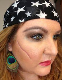 neapolitan beauty halloween makeup pirate with 3d scar